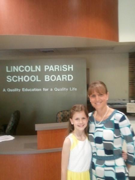 Emma Purifoy (L) & AE Phillips Principal Joanne Hood