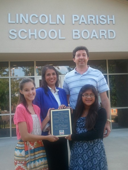 Tammy Schales, with husband Danny and daughters Lara and Ashlynne - 8/5/14