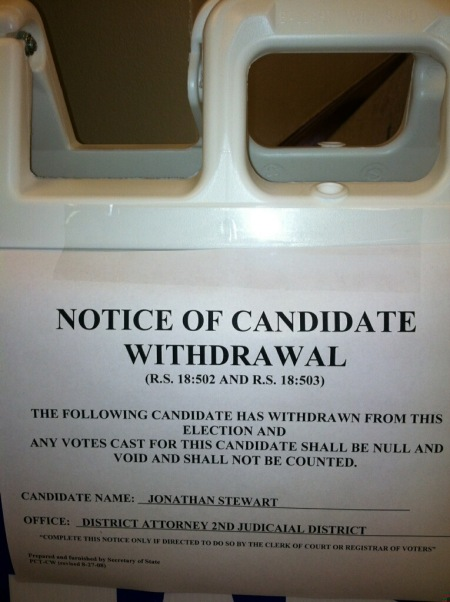 Posted in lobby of Jackson Parish Court House - 10/23/14