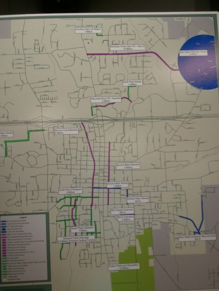 Map of proposed Ruston Projects