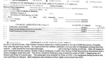 Robinson arrest